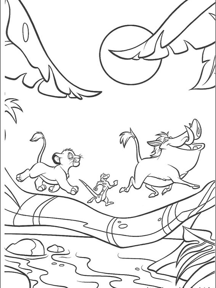 new lion king coloring pages