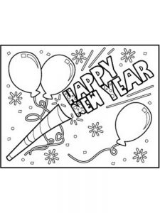 new year coloring pages for preschoolers