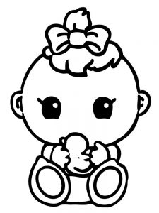 newborn baby coloring pages