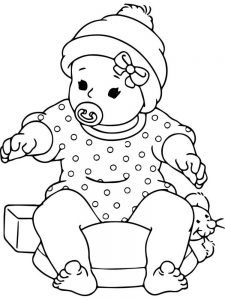 newborn baby coloring pages free