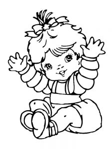 newborn baby girl coloring pages