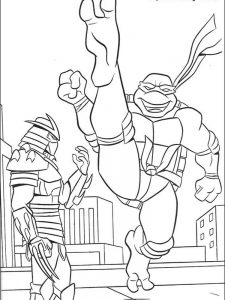 ninja turtles coloring pages michelangelo