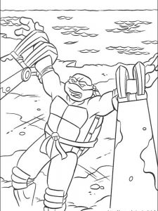 ninja turtles leonardo coloring pages