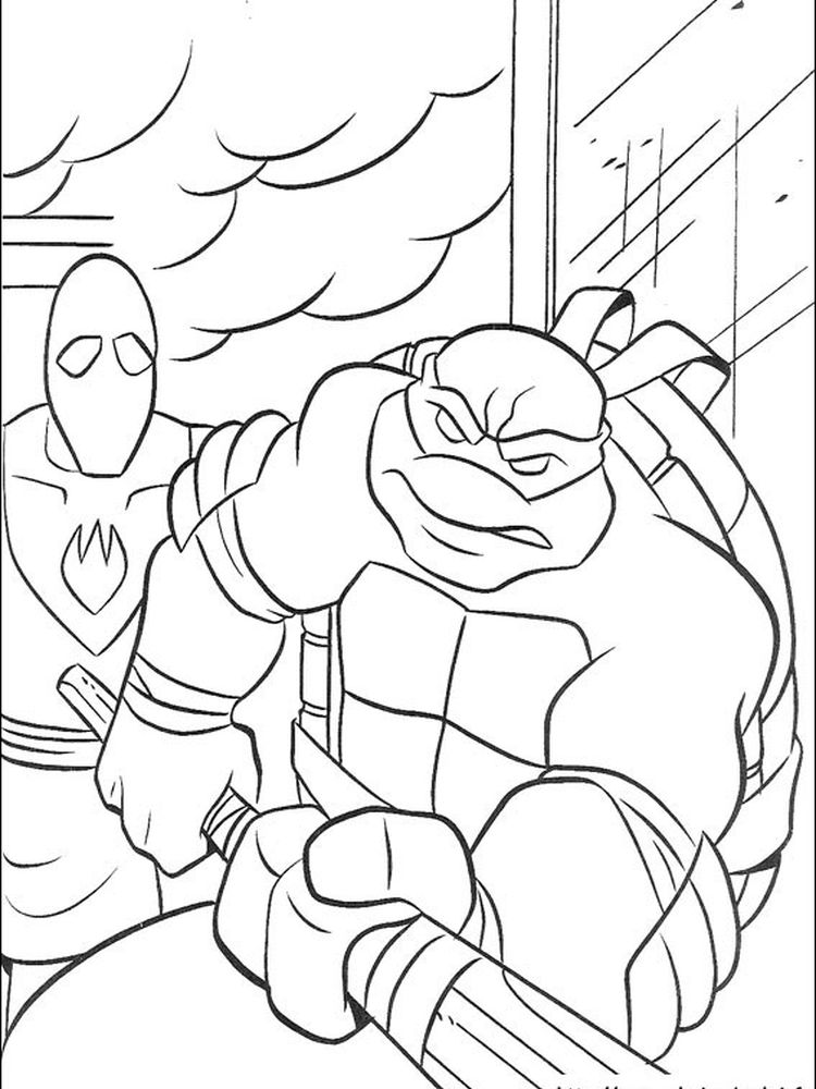 ninja turtles mask coloring pages