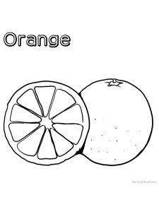 orange coloring picture print