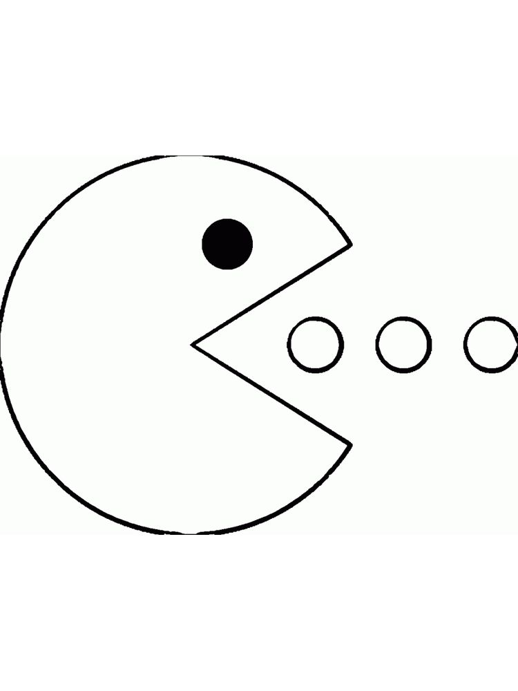 pacman coloring pages 001