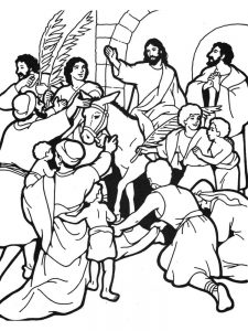 palm sunday childrens coloring pages