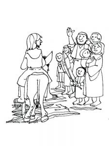 palm sunday coloring page pdf