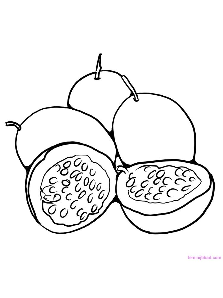 passion fruit coloring pictures print