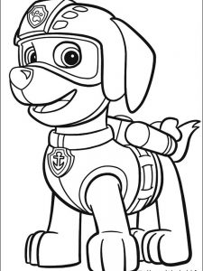 paw patrol coloring page rubble