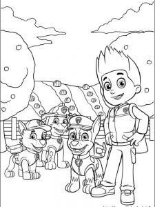 paw patrol coloring pages a4 1