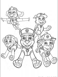 paw patrol coloring pages free 1