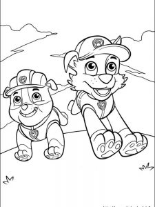 paw patrol coloring pages ryder 1