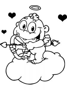 pdf cupid coloring pages