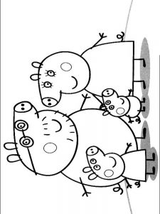 peppa pig cake coloring pages