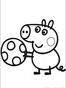 peppa pig cat coloring pages