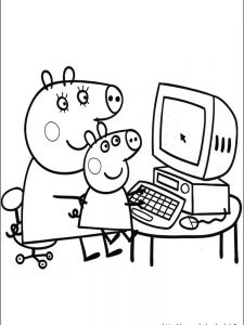 peppa pig coloring pages danny dog
