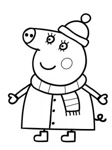 peppa pig colouring pages free printable