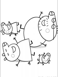 peppa pig easter coloring pages