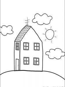 peppa pig valentines day coloring page