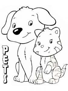 pet coloring pages toddlers