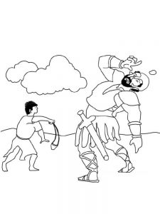 picture david and goliath coloring pages