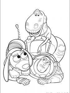 pixar toy story coloring pages
