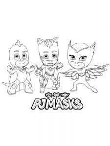 pj mask colouring in pages