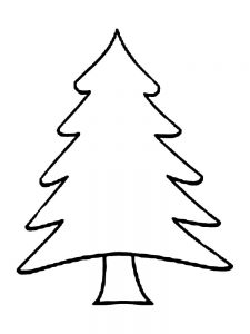 plain christmas tree coloring pages