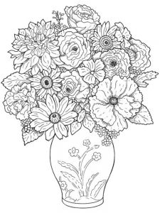 plant colouring pages