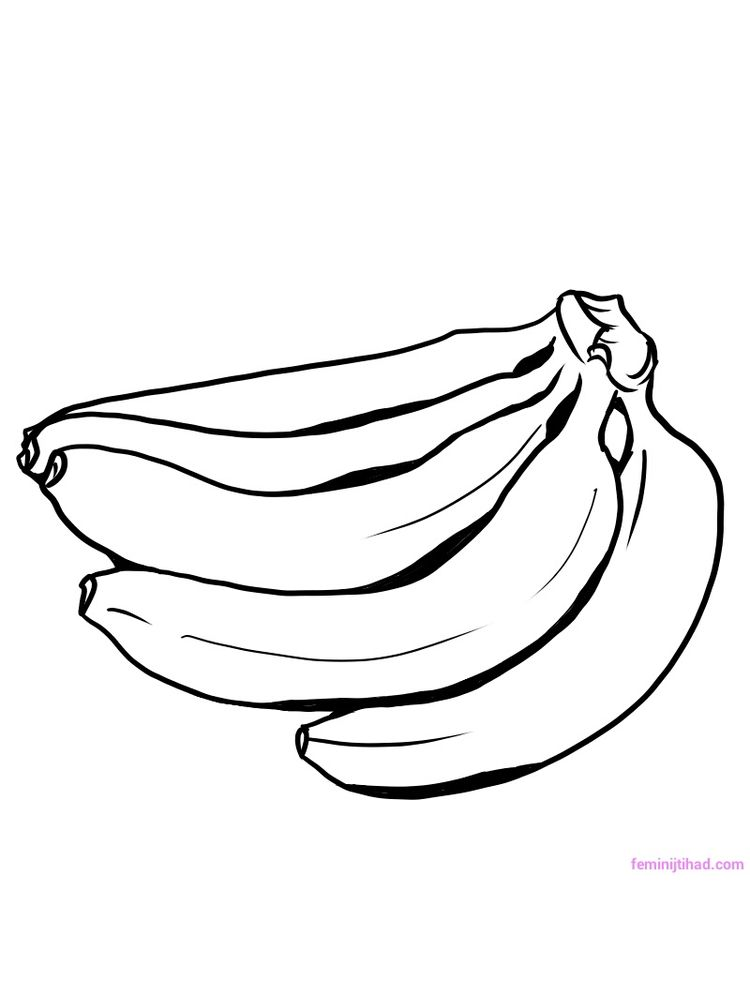 plantain coloring images print