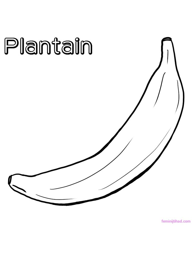plantain coloring page free