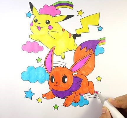 pokemon card coloring page