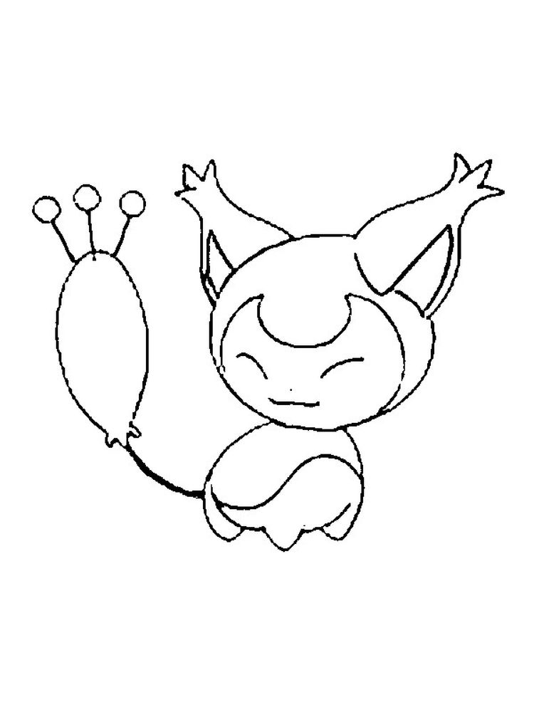 pokemon coloring page gx