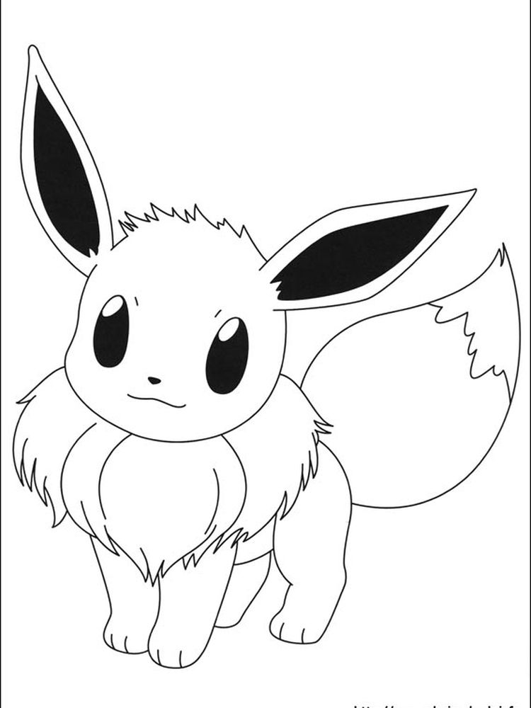 pokemon eevee evolutions coloring page