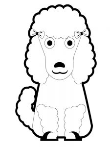 poodle coloring pages best