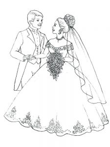 precious moments bride and groom coloring pages free