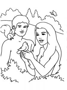 preschool coloring page adam and eve