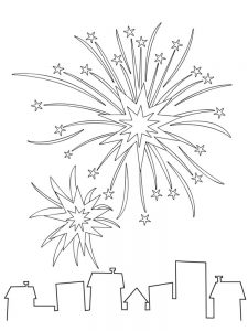 preschool fireworks coloring pages