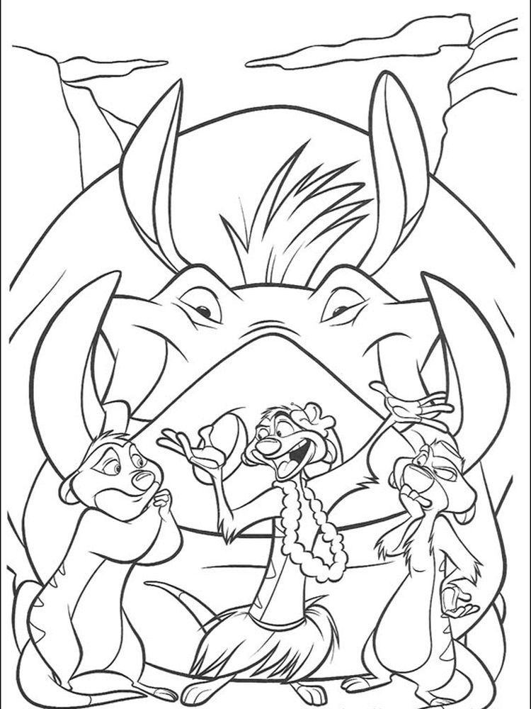 preschool lion king coloring pages