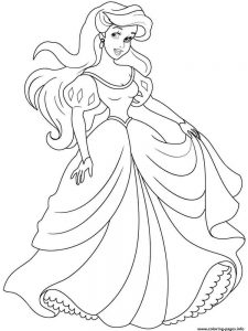princess ariel coloring pages free