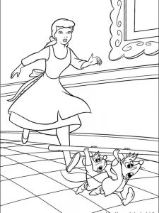 princess cinderella coloring pages to print