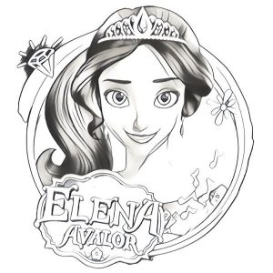 princess elena of avalor coloring page