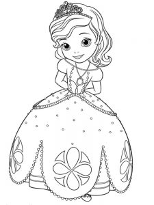 princess sofia coloring pages games print