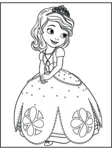 princess sofia the first coloring pages free