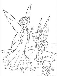 princess tinkerbell coloring pages