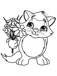 print coloring pages spring flowers