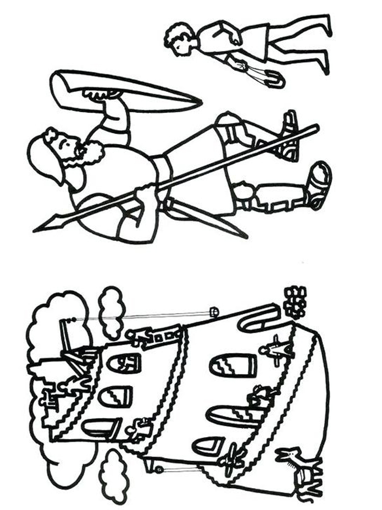 print david and goliath coloring pages