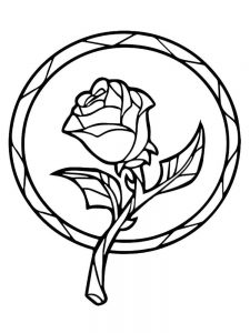 print rose coloring pages