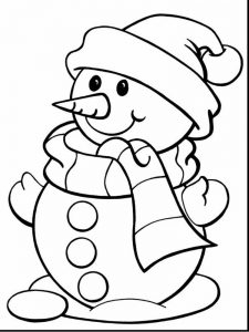 print snowman coloring pages